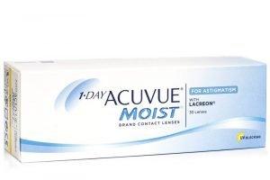 1-Tag Acuvue Moist für Astigmatismus REZENSION (30 Linsen)